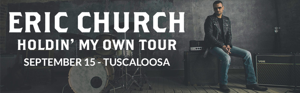 Eric Church at the Tuscaloosa Amphitheater September 15