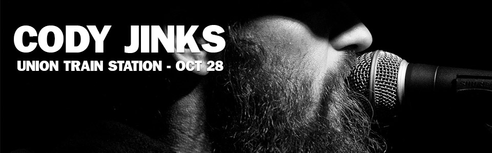 Cody Jinks at the Union Train Station on October 28