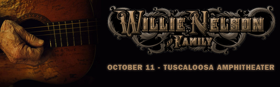 Willie Nelson at Tuscaloosa Amphitheater October 11