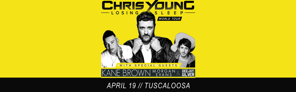 Chris Young at the Tuscaloosa Amphitheater on April 19