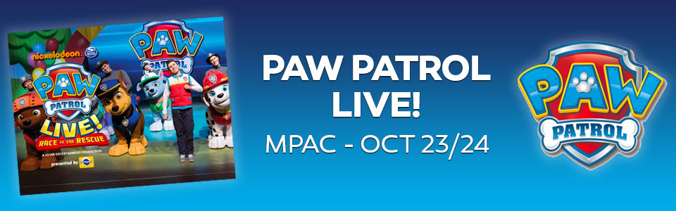 Paw Patrol Live! Race to the Rescue at the MPAC October 23 & 24