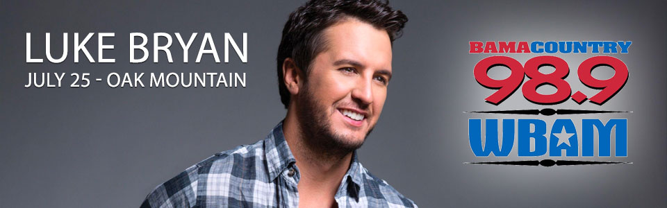 Luke Bryan at the Oak Mountain Amphitheater on July 25