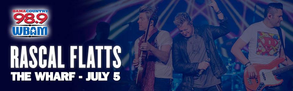 Rascal Flatts concert at The Wharf on July 5th