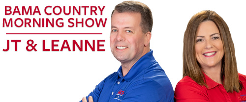 Bama Country Morning Show with JT and Leanne.
