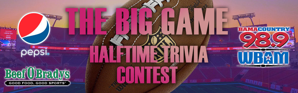 The Big Game Halftime Trivia Contest
